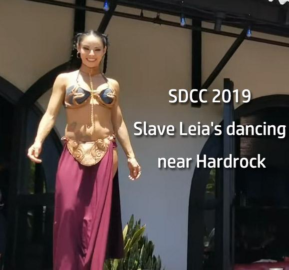 SDCC 2019 Slave Leia's dancing near Hardrock